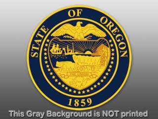 Round Oregon State Seal Sticker   decal logo usa OR car