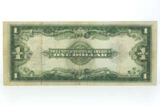 United States Currency $1 One Dollar Bill Blue Seal Large Note
