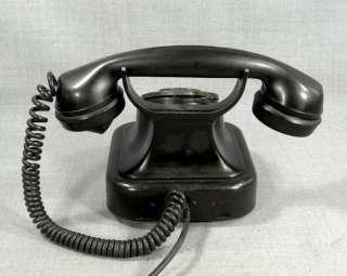 ANTIQUE ART DECO BLACK BAKELITE SIEMENS TYPE TELEPHONE ROTARY DIAL