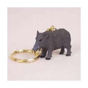 Razorback Hog Keychain: Office Products