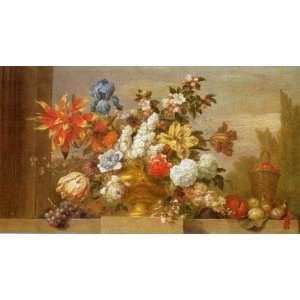 Jarron De Bronce Con Flores by Jacobo Bogdani. Size: 38.25