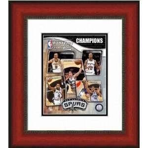 San Antonio Spurs San Antonio Spurs   Western Champions   Framed 8x10
