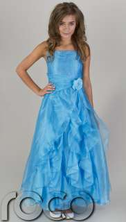 GIRLS TURQUOISE WEDDING BRIDESMAID PROM PARTY FLOWER GIRL DRESS 2   16
