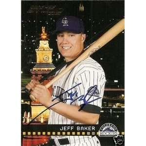 Chicago Cubs Jeff Baker Signed 2004 Donruss Studio Card