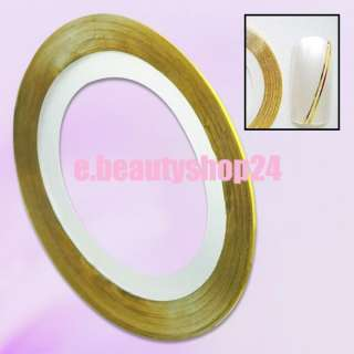 Gold Nail Striping tape Acrylic Gel Tips Art Nails Tip