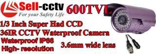 CCTV D/N Outdoor 600TVL CCD security Camera High Resolution