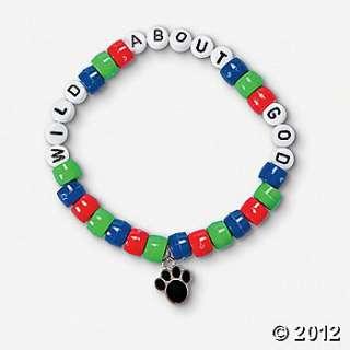 """Wild About God"""" Pony Bead Bracelet Craft Kit, Jewelry Crafts"""