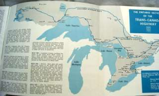 ONTARIO CANADA TRAVEL & TOURISM BROCHURE GUIDES 1959 1962