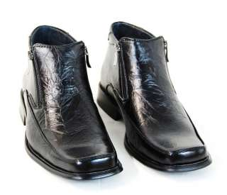fw41/ Mens Black Boots, Dress Shoes, New in Box, US 9.5