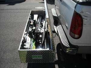 TRUCK HITCH TOOL BOX, SKI BOX 70.5X22X11 ALUMINUM
