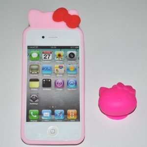Hello Kitty TPU Case with Stand for Apple Iphone 4g (At&t