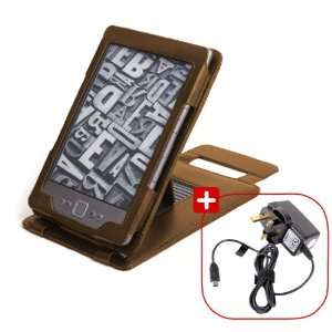 Leather Case & Cover With Stand For s Kindle 4 + Mains Charger