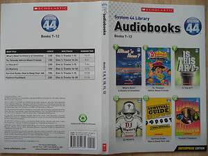 Library AUDIOBOOKS 7 12 Early Readers cds~FASHION~ 0439741688