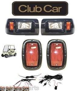 Club Car CARBON FIBER LED Light Kit 1982 Newer Models