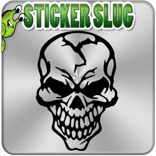 AWESOME CRACKED SKULL DECAL STICKER Custom Vinyl Wall Art Decor Car