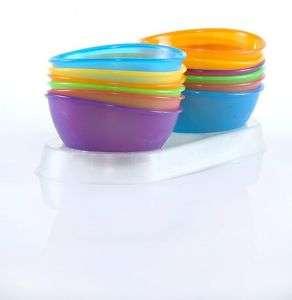 NEW Nuby 4 pack Baby Infant Fun Feeding Bowls BPA FREE