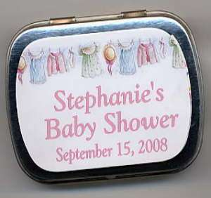Baby Shower Party Favors Mint Tins girl or boy