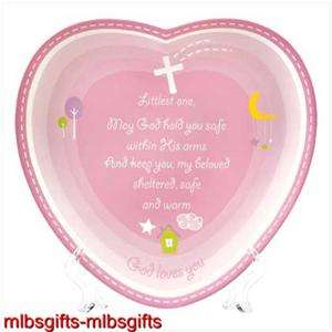Infant Baby Girl Pink Blessing Poem Prayer Plate Plaque