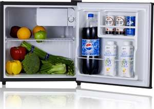 Mini Stainless Steel Refrigerator & Freezer Compact Small Dorm Office