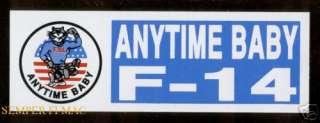 united states navy f 14 tomcat anytime baby bumper sticker