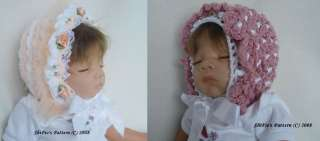 BONNETS HATS BABY GIRL BOY CROCHET PATTERNS #6