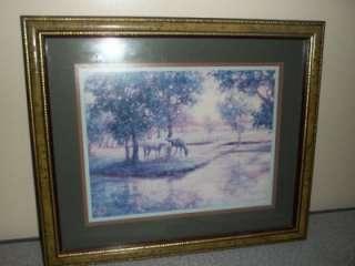 Home Interior Scenic Horse Print Signed Humphrey
