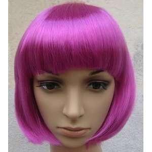 Fashion Short Hair Wig Color Bobo Head Ball Head Magenta