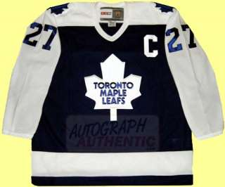 Autographed Darryl Sittler Toronto Maple Leafs Jersey