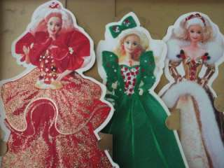 Barbie Doll Holiday Cards Hallmark 1995 MINT Set of 3