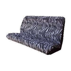 Car Truck SUV Zebra Black White Rear Bench or Small Truck Seat Covers