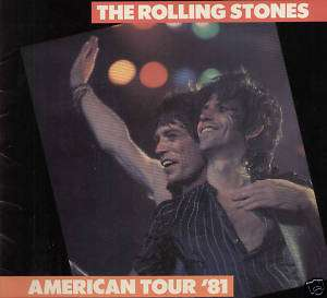 The Rolling Stones 1981 American Concert Tour Program