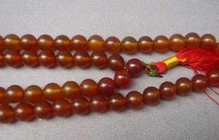 Tibet Buddhist Carnelian 108 Prayer Worry Beads Mala