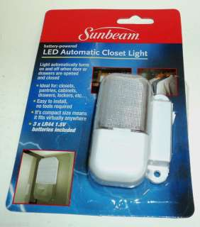 SUNBEAM Battery Powered LED Automatic Closet Light NIP