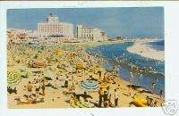 Beach Scene Santa Monica CA Los Angeles Postcard