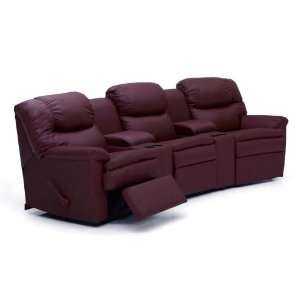 Eipal leather home theater sectional Home theater furniture amazon