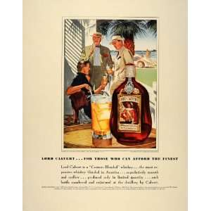 1939 Ad Lord Calvert Whiskey Biscayne Bay George Hughes