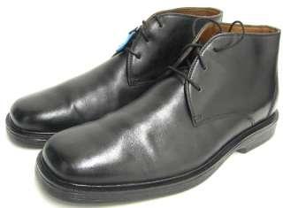 Johnston & Murphy Mens Shoes Black Leather Ashmont Plain Toe Dress