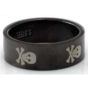 Bla Skulls Design Stainless Steel Ring by BodyPUNKS (RBS