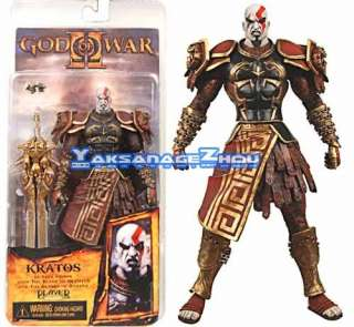Neca God of War Kratos in Ares Armor Mouth Open Figure