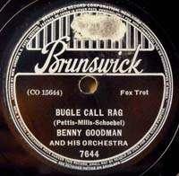 BENNY GOODMAN Brunswick 7644 Bugle Call Rag JAZZ 78 RPM
