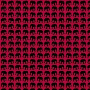 ELEPHANT PATTERN MAROON & BLACK Vinyl Decal Sheets 12x12