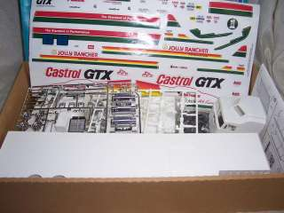 CABOVER CASTROL GTX RACE RIG JOHN FORCE SEMI TRAILER MODEL KIT MIB