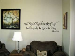 And hand in hand on the edge of sand Vinyl Wall Art Words Decals