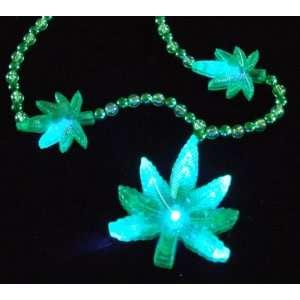 Mary Jane Blinky Blinking Marijuana Mardi Gras Beads New