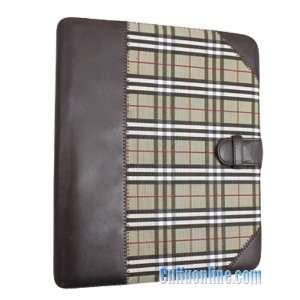 Premium Protective Leather Case Cover Brown Check