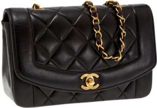 Chanel Black Lambskin Leather Single Flap Bag NR