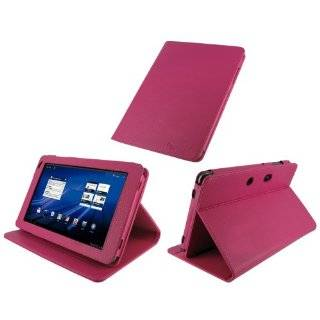 rooCASE Multi Angle (Magenta) Leather Folio Case Cover for