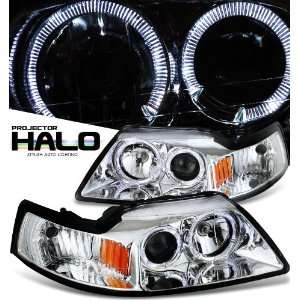 Ford 1999 2004 Ford Mustang Chrome W/Halo Headlight