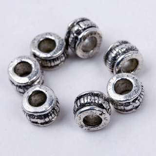 LOT 250 TIBETAN SILVER BIG HOLE SPACER BEADS FINDING