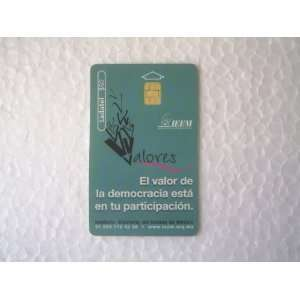Phone Card Ladatel Telmex IEEM Publicity For Democracy
